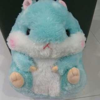 Blue soft hamster