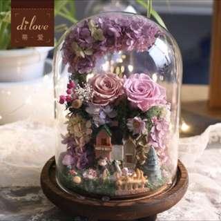 Preserved Fresh Flowers Arrangement