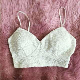 Streetwear Sxciety Lace Bralette - Size small