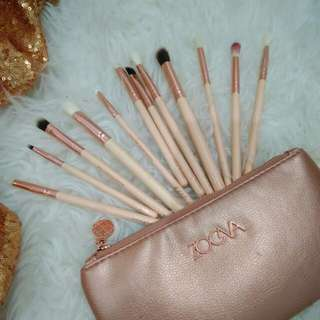 Zoeva Rose Gold 12 Makeup Brush & Pouch