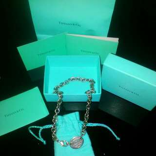 Tiffany & Co Necklace  With Dust Bag Paper Bag  Cards