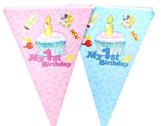 Kids Party / 1st Birthday Banners Buntings Flags