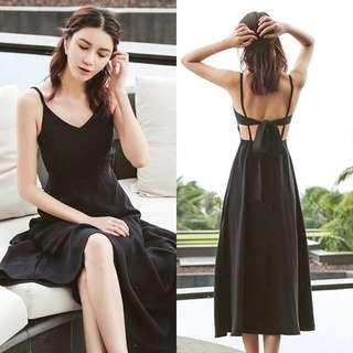 Updated! Plain Bow Maxi Dress
