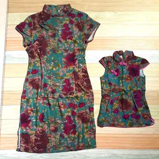 1 x brand new cheongsam mum and daughter baby with free delivery