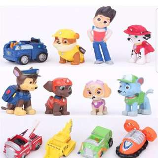 12pcs Nickelodeon Paw Patrol Mini Figures Toy Playset Cake Toppers -