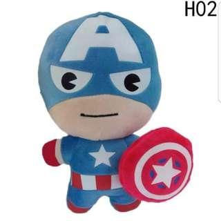 12cm Anime Kids Toys The Avengers Toy Canine Captain cartoon Action Figure Plush Toy
