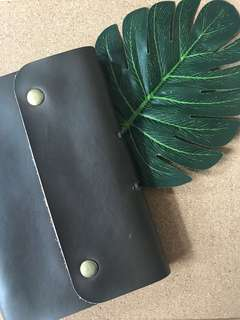 Cow Hide Soft Leather Refillable Notebook with extra Ziplock pocket