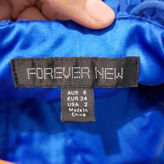 Forever new ori dress blue or electric blue