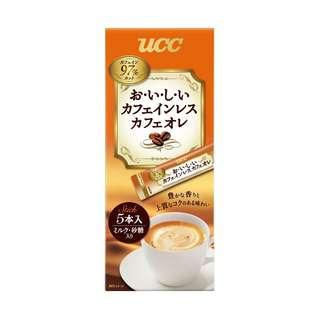 (全新訂購) 日本製造 UCC 低咖啡因 Cafe au lait  即沖歐蕾咖啡棒 5 條 (6 盒裝)