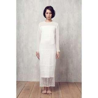Alia Bastamam White Kurung Dress