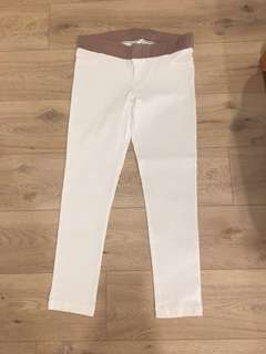 Spring maternity white pants