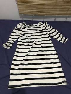Divided Striped Dress