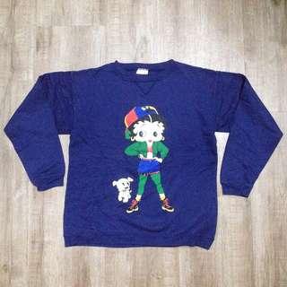 Vintage Betty Boop Kids Sweatshirt