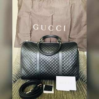 Original Gucci Guccissima Boston GHW Black 100% Authentic