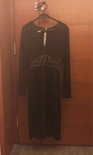 Cacharel black dress - French size 36 = small size