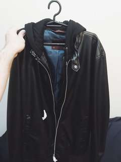 Zara Leather Jacket with Hood