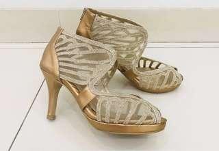 Farish - Ladies Shoes Luxury Gold High Heels