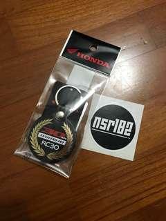 Genuine Honda RC30 Anniversary Keychain