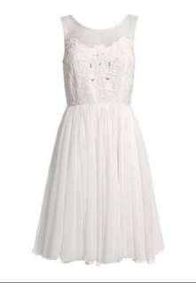 Reiss creamy white dress - size UK8, USA4