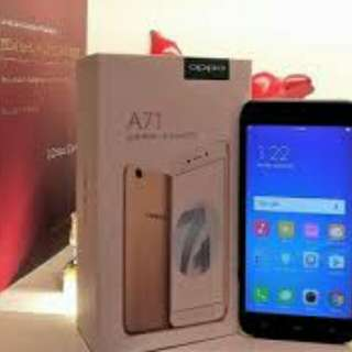 New oppo A71 cash dan credit Ram 3