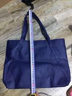 Plain blue handbag