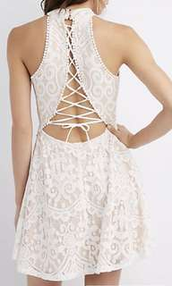 Charlotte & Russe back lace dress