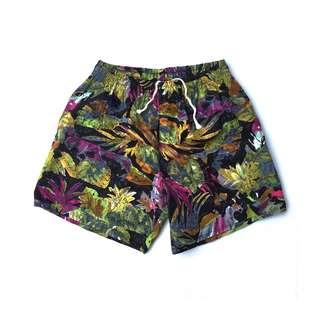 Men's Swim Wear Paint Distresses Floral