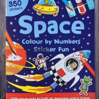 Coloring Sticker Book
