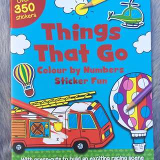 Coloring Sticker Book
