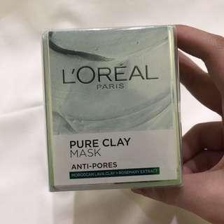 (Brand New) L'Oreal Pure Clay Mask (Anti-Pores)