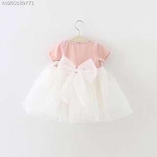 夏裝新款上新女童寶寶夏裝全棉花邊蓬蓬紗公主裙One piece dress for kids girls YJBB180402