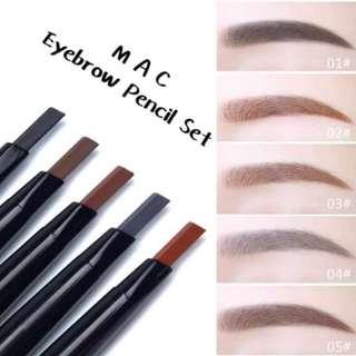 🔥Mac Eyebrow Pencil Set(5pcs)  ✅Black ✅Gray ✅Dark Brown  ✅Medium Brown  ✅Light Brown