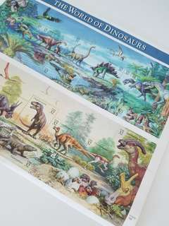 🏣1996 USA Stamps The World of Dinosaurs MINT sheet USPS 美國郵票 US 31361