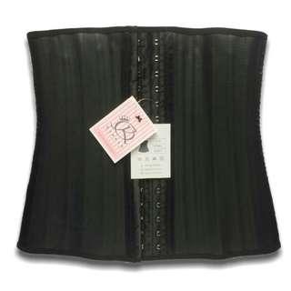 25- steel boned waist trainer corset latex preloved