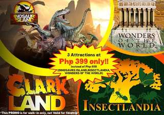 Dinosaurs Island + Insectlandia + 7 Wonders of the World Museum