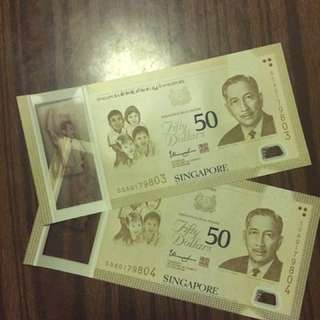 SG50 $50 Commemorative Notes
