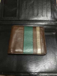 Coach Mahogany Leather Wallet
