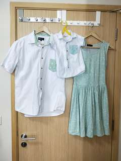 Family outfits for dad mum and son