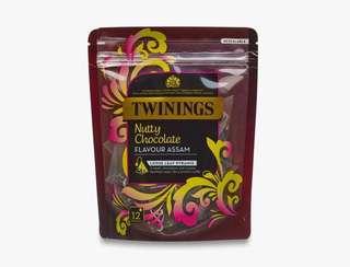 Twinings NUTTY CHOCOLATE FLAVOUR ASSAM - 12 PYRAMID BAGS 川寧榛子朱古力味阿薩姆紅茶 12個三角茶包