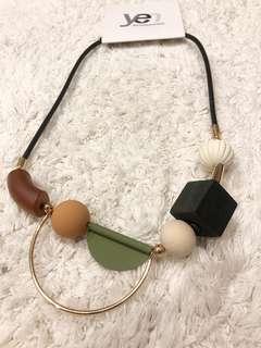 Brand New Minimalist Wooden necklace
