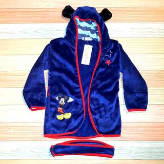 1 x Mickey and Minnie mouse kids bathrobes with free delivery