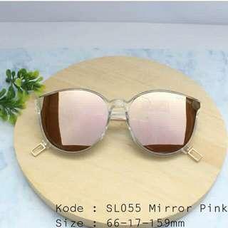 Kacamata mirror pink