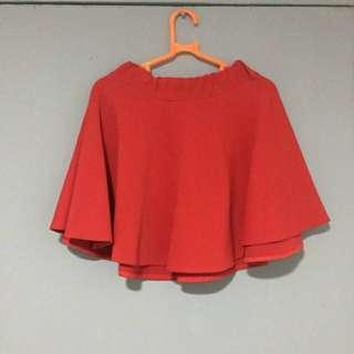 COD Preloved Red Skater Skirt - 25PHP