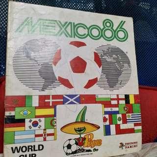 1986年 mexic 世界杯收藏 貼紙簿