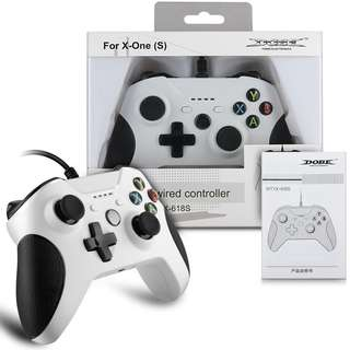 YockTec Xbox One/Xbox One X Wired Controller Gamepad USB PC Controller Joypad Wired Gaming Joysticks Controller for Xbox One/Xbox One X-White