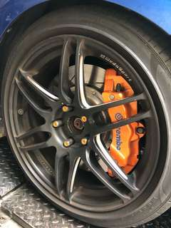 "18"" Wedsport SA60-M with Volks Racing Lock Nuts"