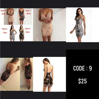 Bodycon evening and club dress (pre-order)
