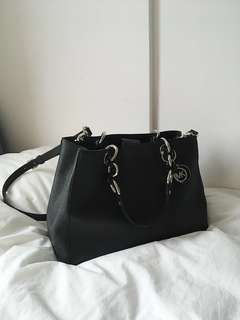 Michael Kors black little handbag w long strap