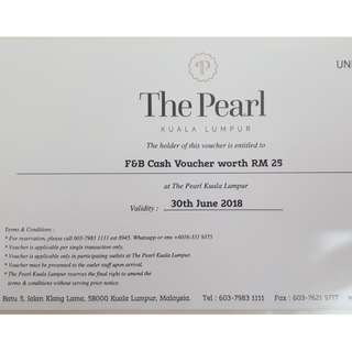 The Pearl KL F&B Voucher RM25 x 10