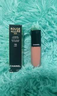 CHANEL matte liquid lip colour #156